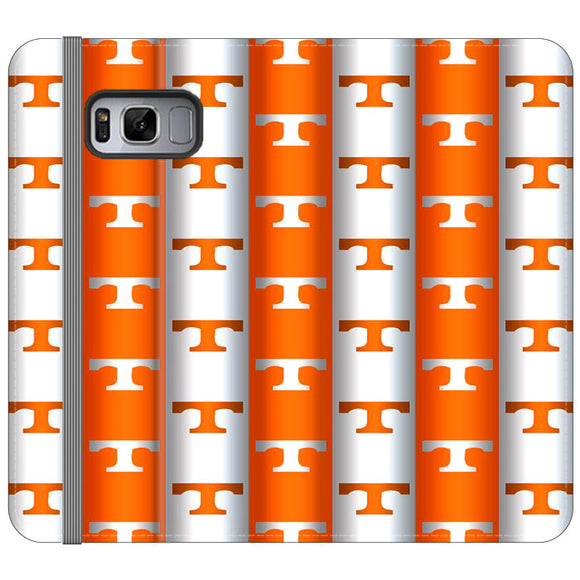 University Of Tennessee Vols Line Samsung Galaxy S8 Plus Flip Case | Frostedcase