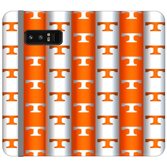 University Of Tennessee Vols Line Samsung Galaxy Note 8 Flip Case | Frostedcase