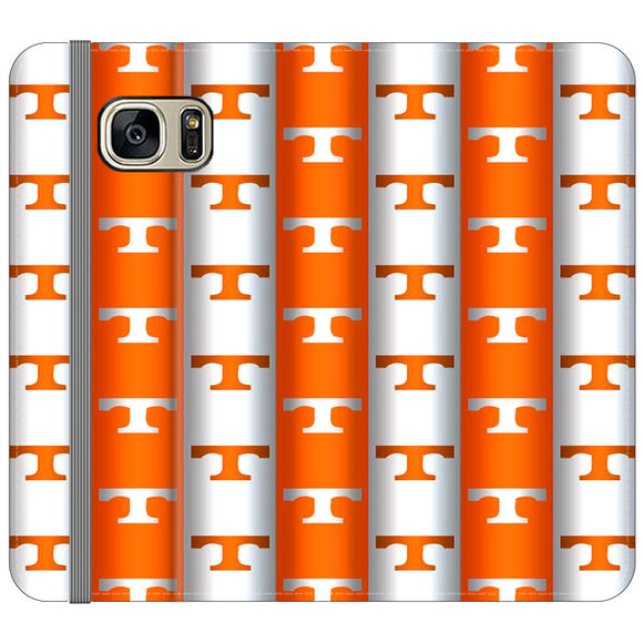 University Of Tennessee Vols Line Samsung Galaxy S7 EDGE Flip Case | Frostedcase