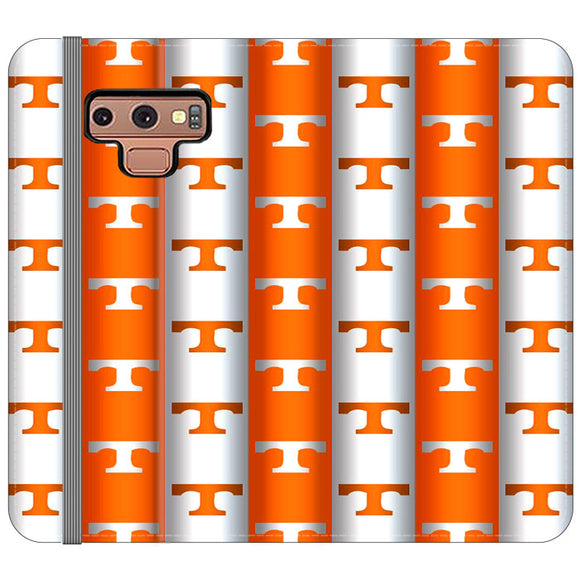 University Of Tennessee Vols Line Samsung Galaxy Note 9 Flip Case | Frostedcase