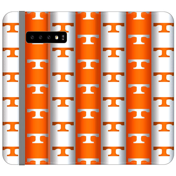University Of Tennessee Vols Line Samsung Galaxy S10 Plus Flip Case | Frostedcase