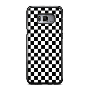 9e34bf828c2ca0 Vans Black And White Squares Samsung Galaxy S8 Case