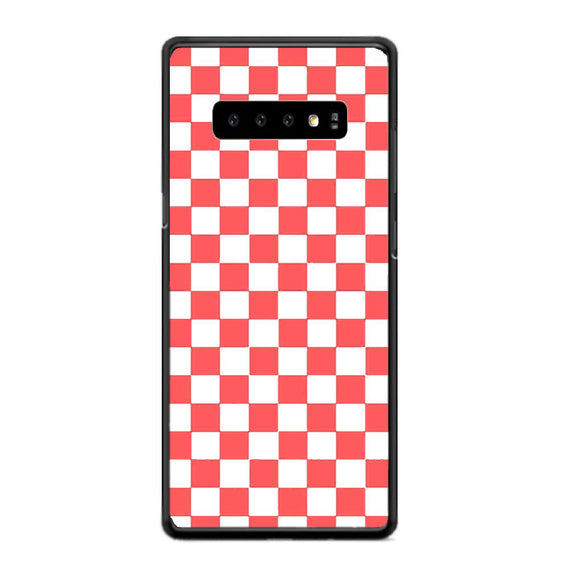 Vans Pink And White Squares Samsung Galaxy S10 Case | Frostedcase