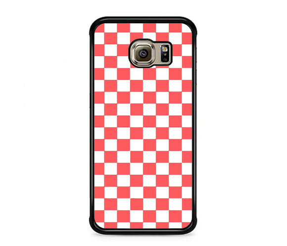 Vans Pink And White Squares Samsung Galaxy S6 EDGE Case | Frostedcase