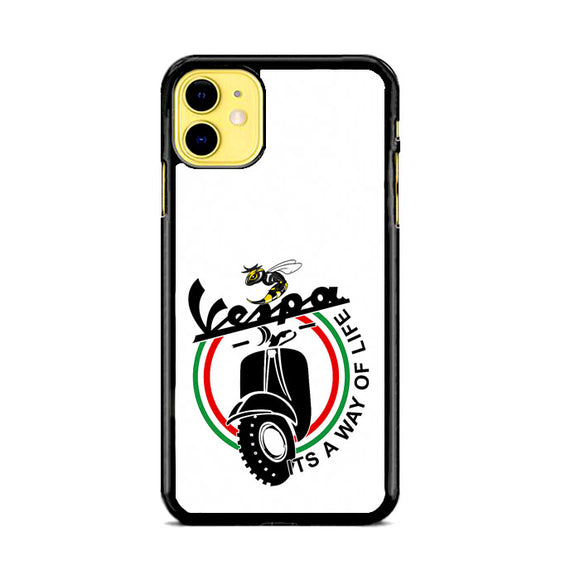 Vespa Emblem Way Of Life iPhone 11 Case | Frostedcase
