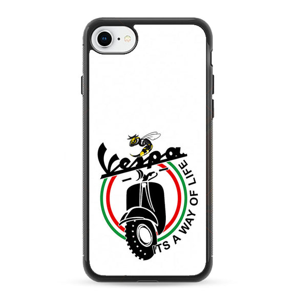 Vespa Emblem Way Of Life iPhone 8 Case | Frostedcase
