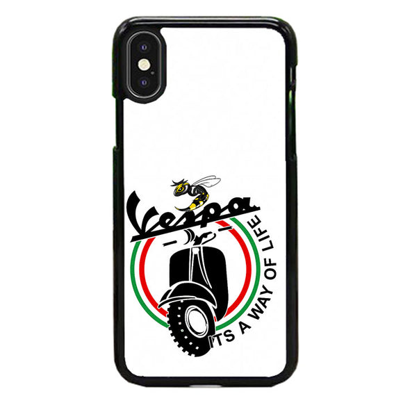 Vespa Emblem Way Of Life iPhone XS Case | Frostedcase