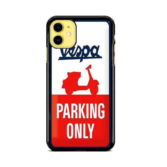 Vespa Harley Parking Only Sign iPhone 11 Case | Frostedcase