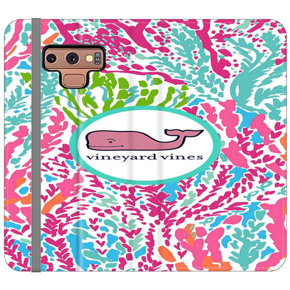 Vineyard Vines Algae Color Samsung Galaxy Note 9 Flip Case | Frostedcase