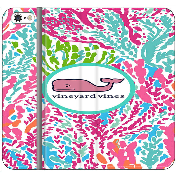 Vineyard Vines Algae Color iPhone 6 Plus|6S Plus Flip Case | Frostedcase
