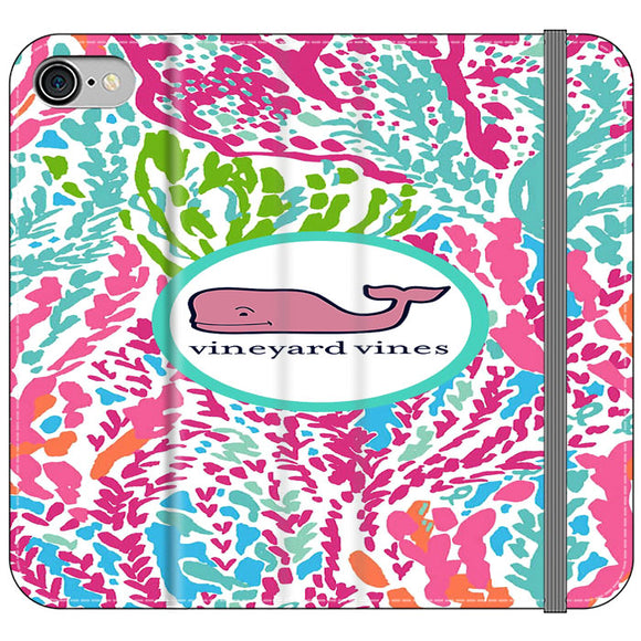 Vineyard Vines Algae Color iPhone 8 Flip Case | Frostedcase