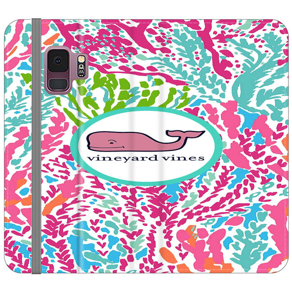 Vineyard Vines Algae Color Samsung Galaxy S9 Flip Case | Frostedcase