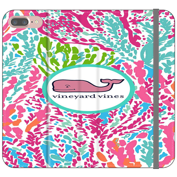Vineyard Vines Algae Color iPhone 8 Plus Flip Case | Frostedcase
