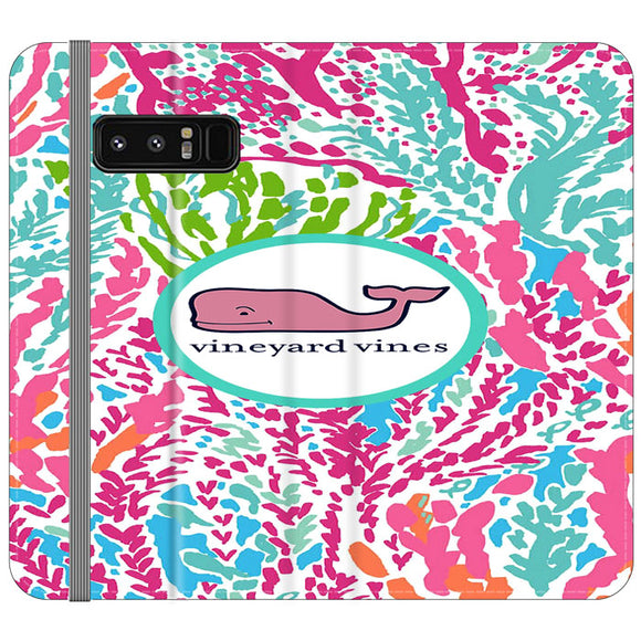 Vineyard Vines Algae Color Samsung Galaxy Note 8 Flip Case | Frostedcase
