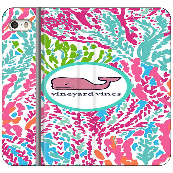 Vineyard Vines Algae Color iPhone 5|5S|SE Flip Case | Frostedcase