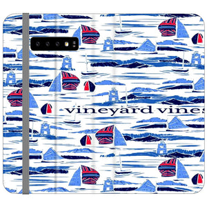 Vineyard Vines Boat Art Samsung Galaxy S10e Flip Case | Frostedcase