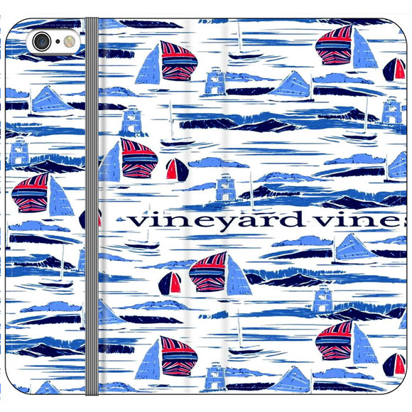 Vineyard Vines Boat Art iPhone 6|6S Flip Case | Frostedcase