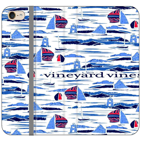 Vineyard Vines Boat Art iPod 6 Flip Case | Frostedcase