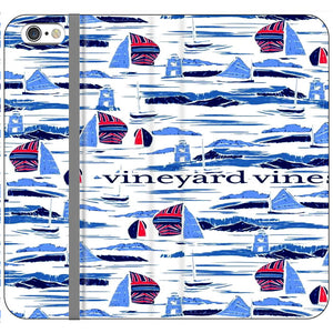 Vineyard Vines Boat Art iPhone 6 Plus|6S Plus Flip Case | Frostedcase