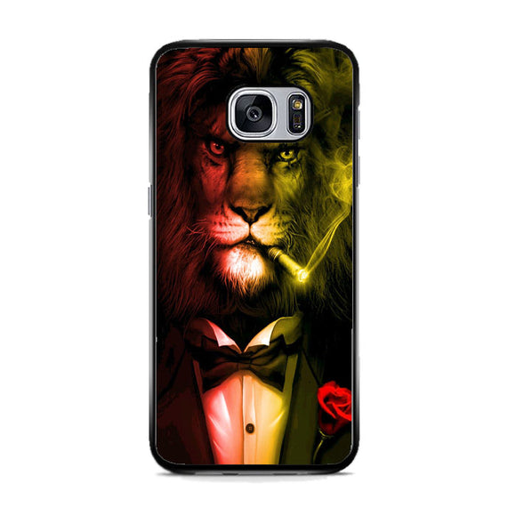 Warrior Lion Rasta Night Rose Samsung Galaxy S7 Case | Frostedcase