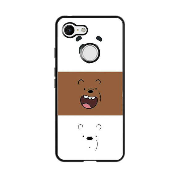 We Bare Bear Face Line Google Pixel 3 Case | Frostedcase