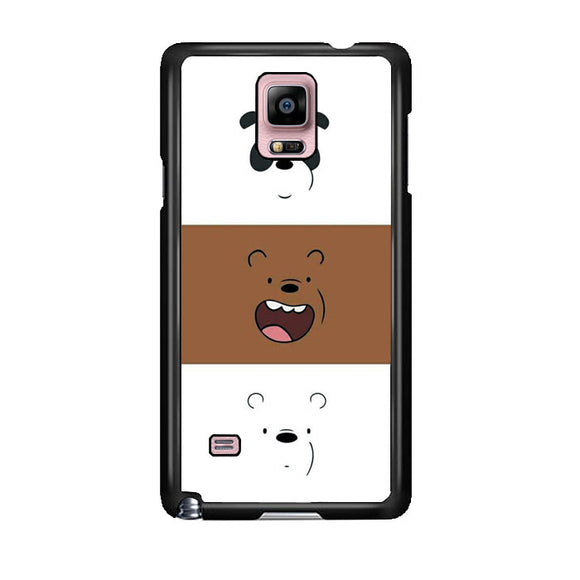 We Bare Bear Face Line Samsung Galaxy Note 4 Case | Frostedcase