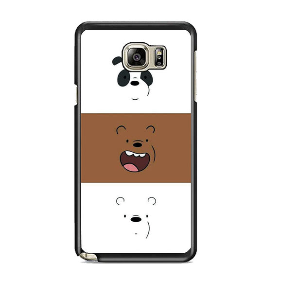 We Bare Bear Face Line Samsung Galaxy Note 5 Case | Frostedcase