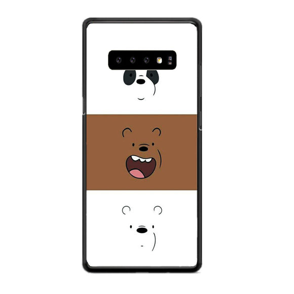 We Bare Bear Face Line Samsung Galaxy S10 Case | Frostedcase
