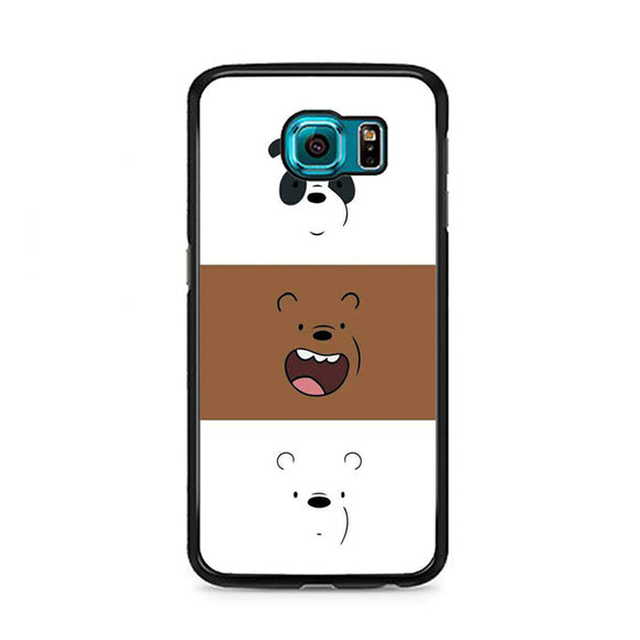 We Bare Bear Face Line Samsung Galaxy S6 Case | Frostedcase