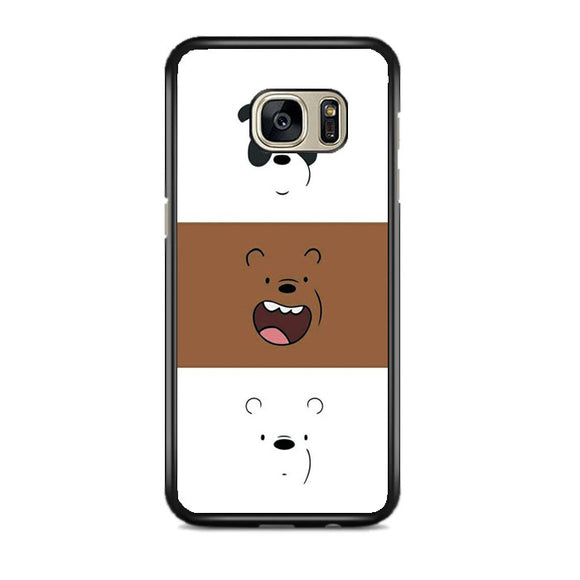 We Bare Bear Face Line Samsung Galaxy S7 EDGE Case | Frostedcase