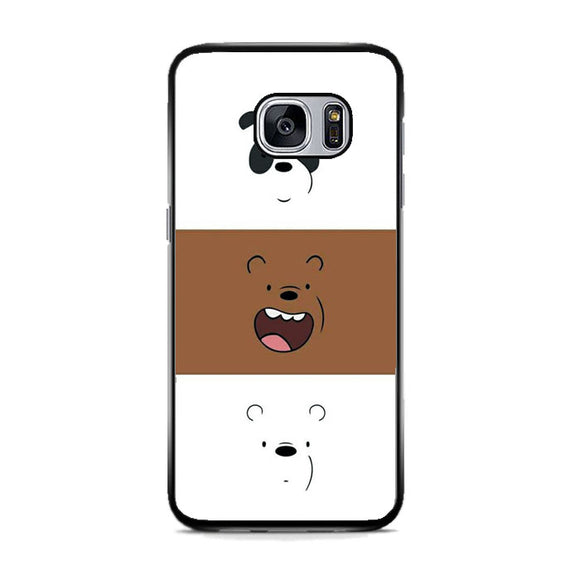 We Bare Bear Face Line Samsung Galaxy S7 Case | Frostedcase