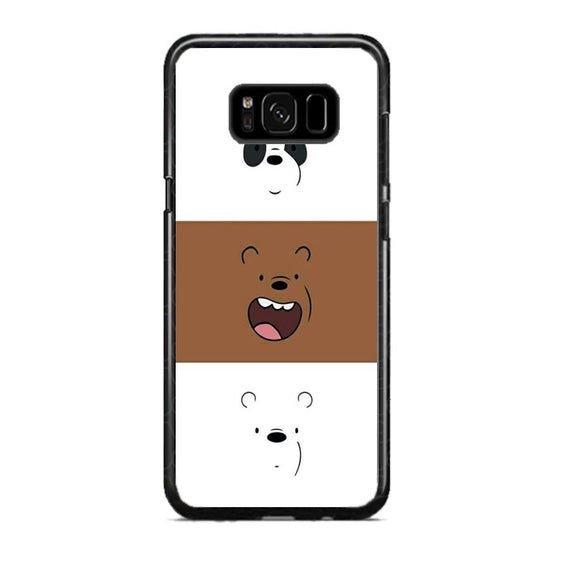 We Bare Bear Face Line Samsung Galaxy S8 Plus Case | Frostedcase