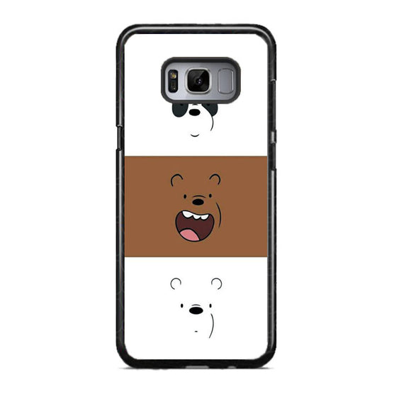 We Bare Bear Face Line Samsung Galaxy S8 Case | Frostedcase