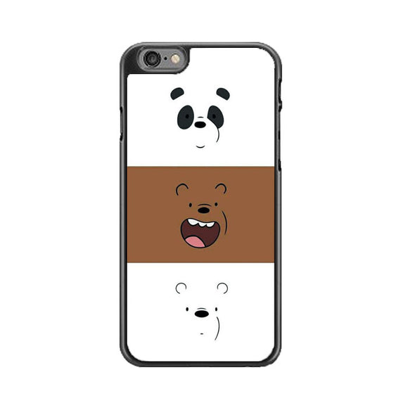 We Bare Bear Face Line iPhone 6 Plus|6S Plus Case | Frostedcase