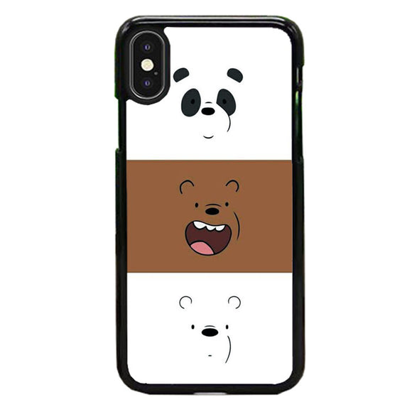 We Bare Bear Face Line iPhone XS Case | Frostedcase