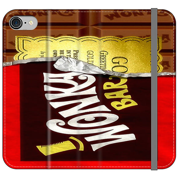 Willy Wonka Chocolate Golden Ticket iPhone 8 Flip Case | Frostedcase