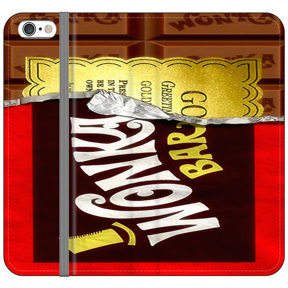 Willy Wonka Chocolate Golden Ticket iPhone 6 Plus|6S Plus Flip Case | Frostedcase