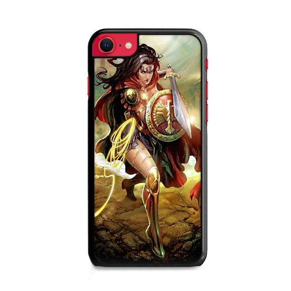 Wonder Woman Digital Art iPhone SE Case | Frostedcase