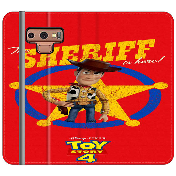 Woody The Sheriff Toy Story 4 Samsung Galaxy Note 9 Flip Case | Frostedcase