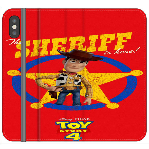 Woody The Sheriff Toy Story 4 iPhone XS Flip Case | Frostedcase