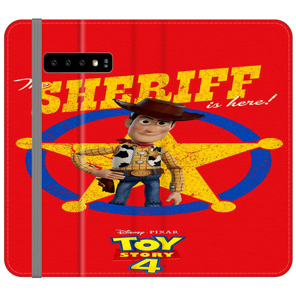Woody The Sheriff Toy Story 4 Samsung Galaxy S10 Plus Flip Case | Frostedcase