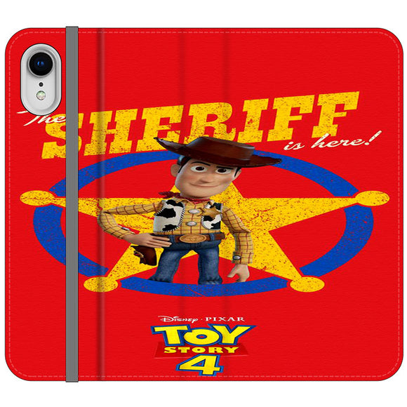 Woody The Sheriff Toy Story 4 iPhone XR Flip Case | Frostedcase