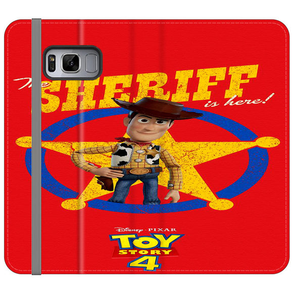 Woody The Sheriff Toy Story 4 Samsung Galaxy S8 Plus Flip Case | Frostedcase