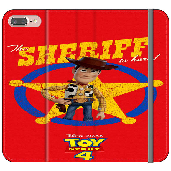 Woody The Sheriff Toy Story 4 iPhone 8 Plus Flip Case | Frostedcase