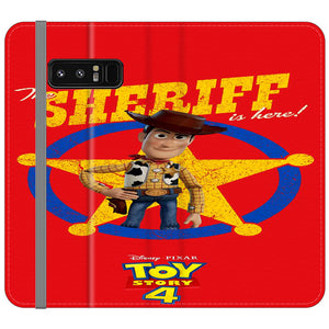 Woody The Sheriff Toy Story 4 Samsung Galaxy Note 8 Flip Case | Frostedcase