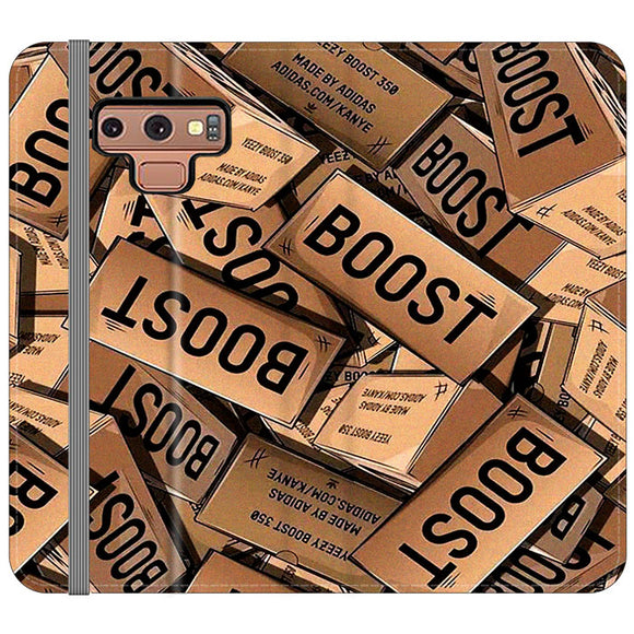 Yeezy Boost 700 Box Pattern Samsung Galaxy Note 9 Flip Case | Frostedcase