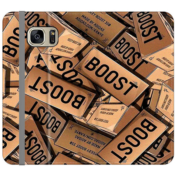 Yeezy Boost 700 Box Pattern Samsung Galaxy S7 EDGE Flip Case | Frostedcase