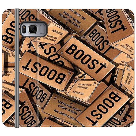 Yeezy Boost 700 Box Pattern Samsung Galaxy S8 Flip Case | Frostedcase