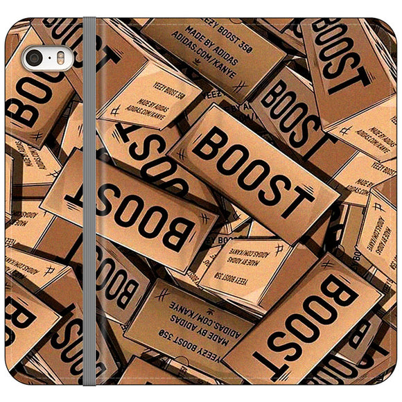 Yeezy Boost 700 Box Pattern iPhone 5|5S|SE Flip Case | Frostedcase
