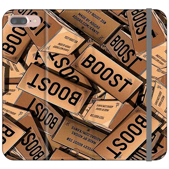 Yeezy Boost 700 Box Pattern iPhone 7 Plus Flip Case | Frostedcase